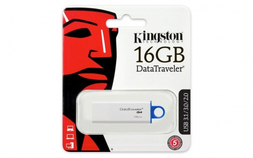 Kingston DTIG4/16GB DataTraveler Memoria Flash, USB 3.0, 16 GB, Bianco/Blu